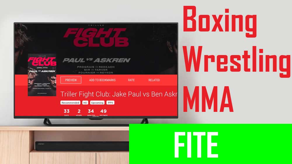 Android TV sport app, FITE, MMA, Wrestling, Boxing tv box, MMA shows TV BOX