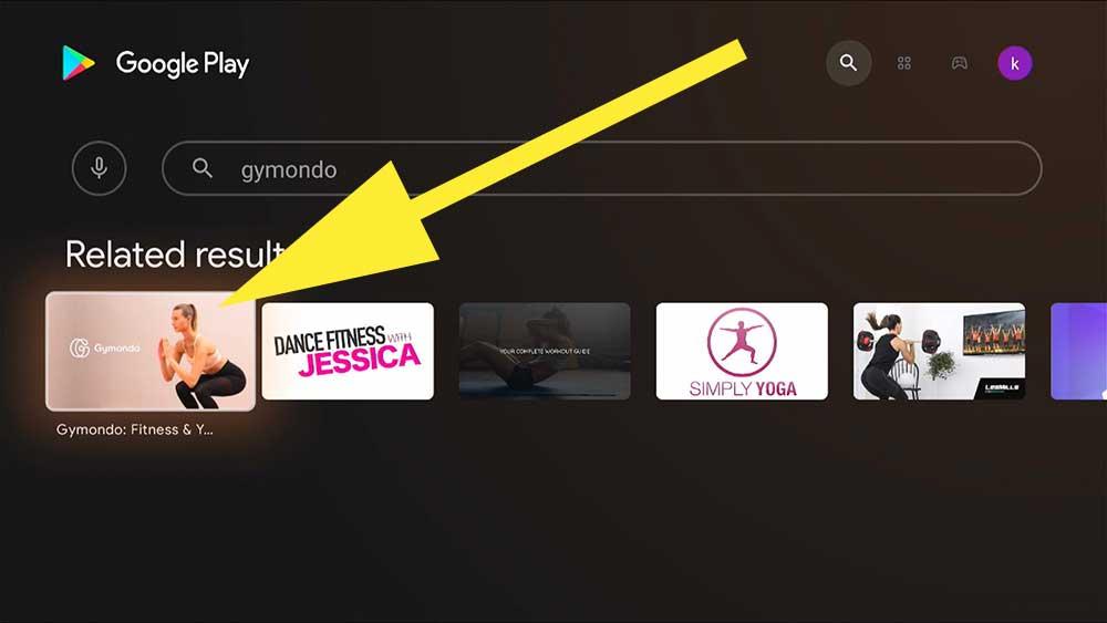 Gymondo Android TV box Fitness app