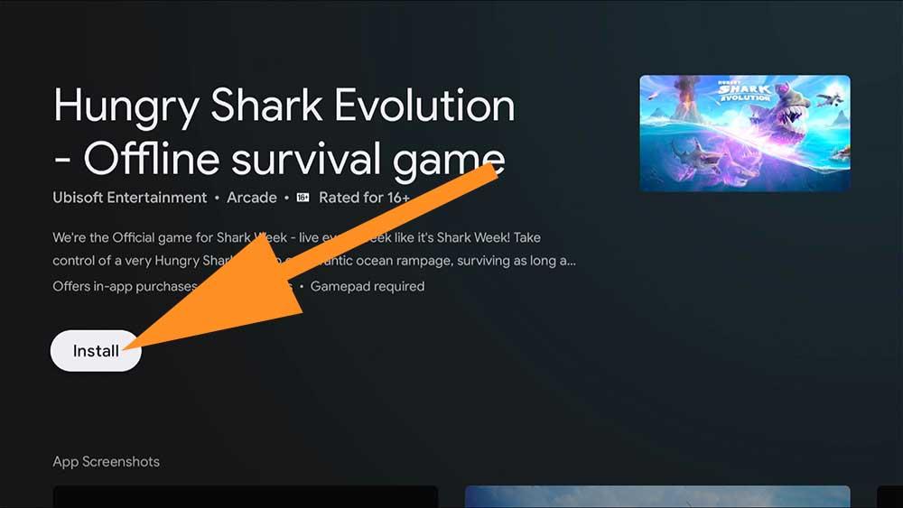 Hugry Shark Evolution Fire TV