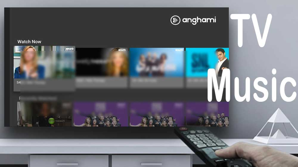 Anghami Android TV music Player