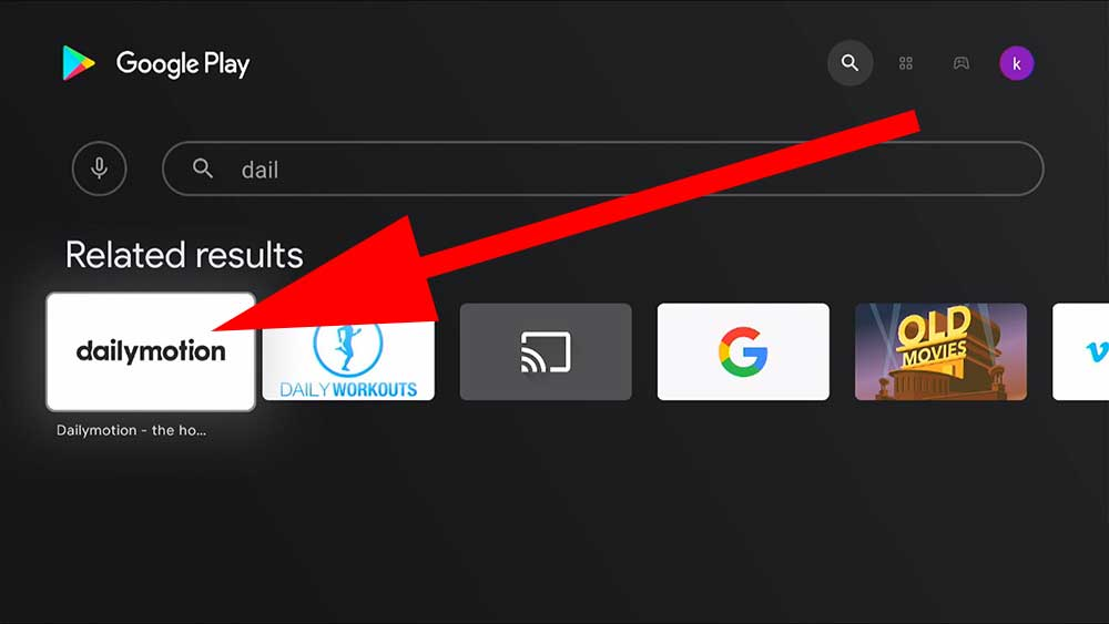 Dailymotion videos for Android TV