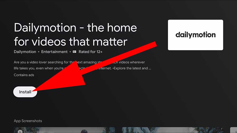 Dailymotion videos for Fire TV