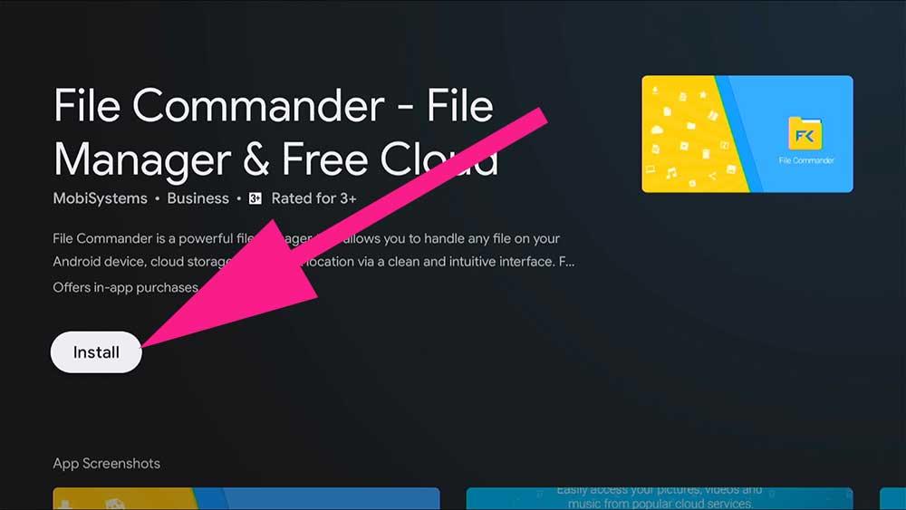 File manager TV BOX, File commander