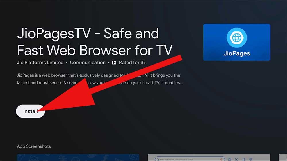 Fire TV web Browser