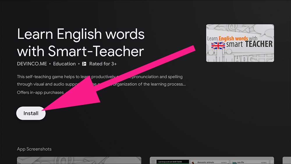 Learn English Words on Android TV