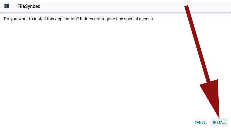 Install FileSynced