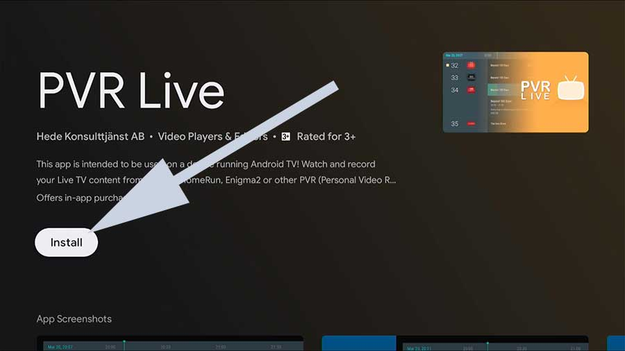 PVR Live IPTV Android TV