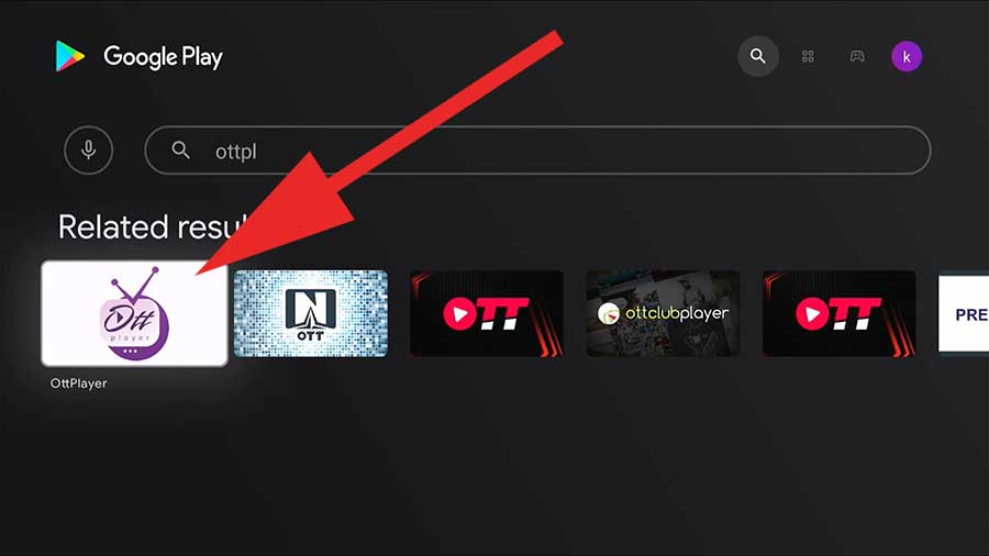 ottPlayer for Fire TV