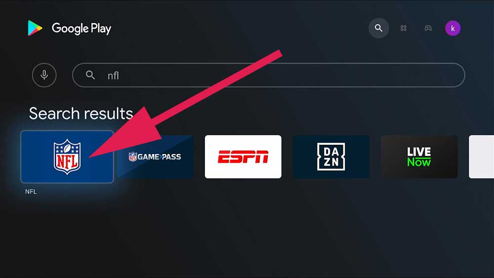 NFL Android TV