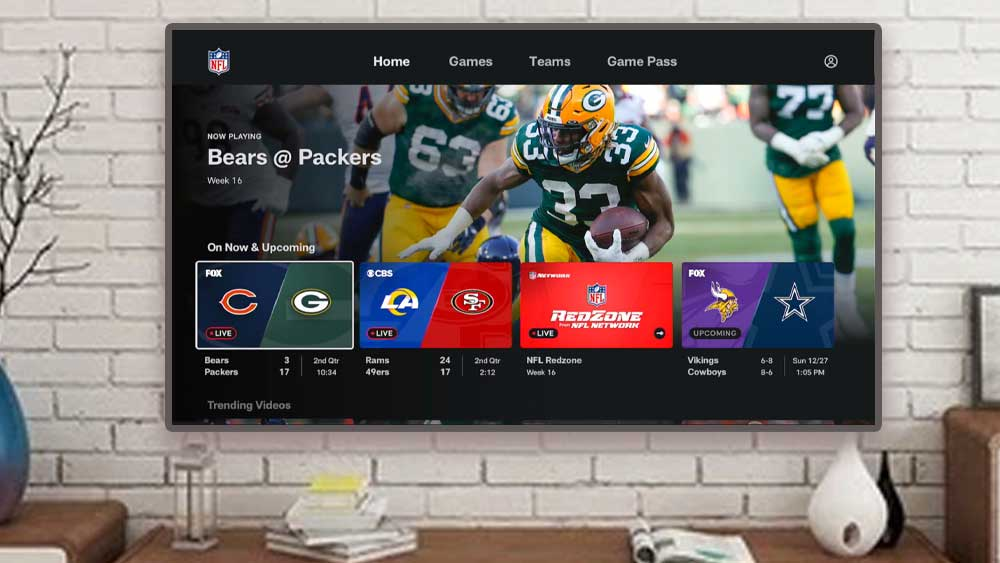 NFL football games for Android TV